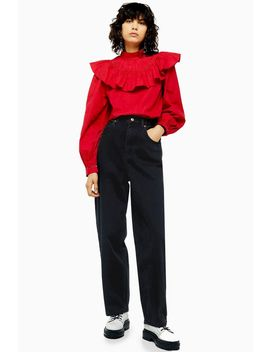 Washed Black Oversized Balloon Jeans by Topshop