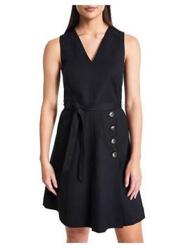Cotton Sheen Button Dress by Marcs Women
