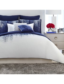 Midnight Blue/White Lyon Comforter Set by Joss & Main