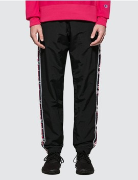 Side Taped Track Pants With Elastic Cuff by Champion Reverse Weave