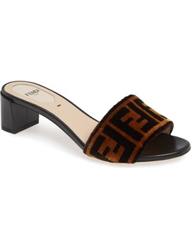 Logo Slide Sandal by Fendi