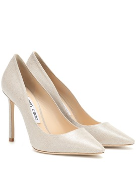 Romy 100 Metallic Canvas Pumps by Jimmy Choo