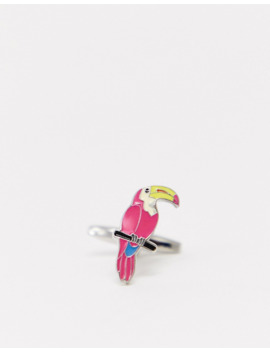 Moss London Cufflinks With Toucans In Silver by Moss London
