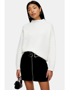 Knitted Racking Stitch Sweatshirt by Topshop