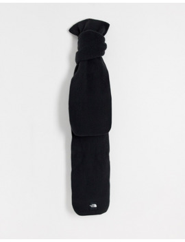 The North Face Denali Fleece Scarf In Black by The North Face