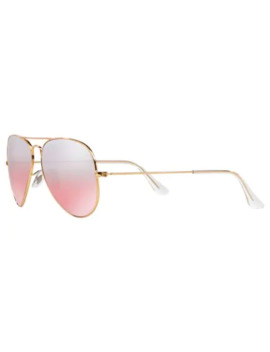 Aviator Mirrored Sunglasses by Ray Ban