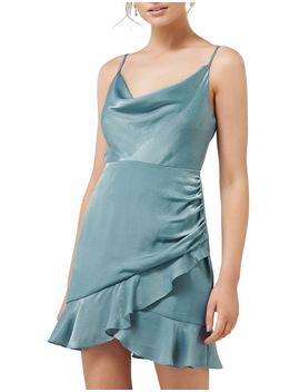 Fifi Petite Cowl Neck Wrap Frill Mini Dress by Forever New Petite