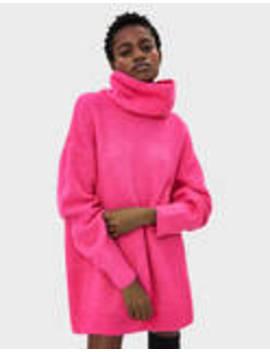 Sweater Oversize Com Gola Dobrada by Bershka