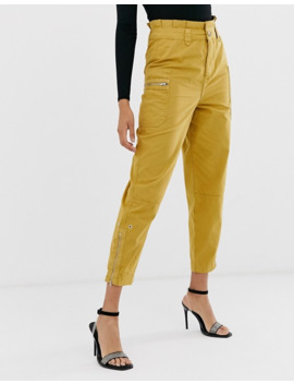 Asos Design Utility Combat Trouser With Zip Pockets by Asos Design