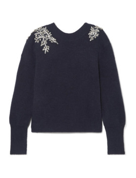 Valerie Crystal Embellished Knitted Sweater by Veronica Beard