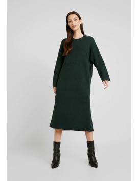 Bottle Green Studio Zip Dress   Strikkjoler by One Teaspoon