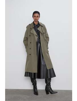 Double Breasted Trenchcoat Met Knopen by Zara
