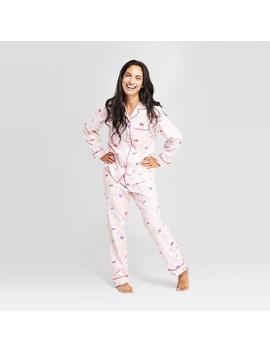 Women's Holiday Reindeer Pajama Set   Pink by Shop This Collection