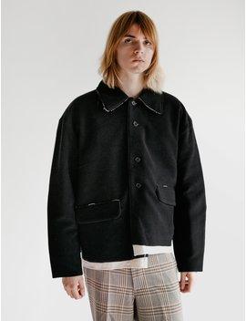 Short Coat Wool Cashmere Black by Camiel Fortgens