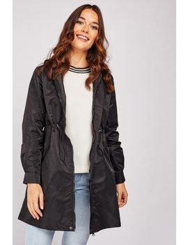Drawstring Toggle Waist Hooded Jacket by Everything5 Pounds