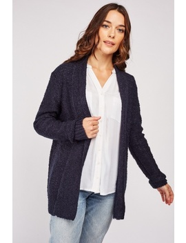 Open Front Textured Knit Cardigan by Everything5 Pounds
