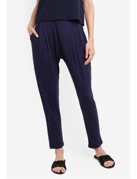 Basic Pleated Harem Pants by Zalora Basics