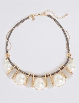 Pearl Ball Necklace by Marks & Spencer