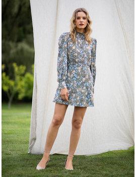 Tvf Persimmon Crepe De Chine Mini Dress by Dvf