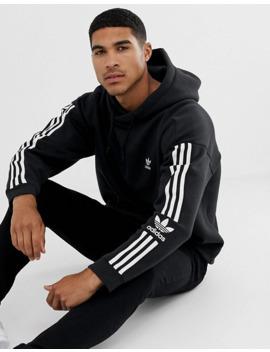 Черный худи с 3 полосками и логотипом Adidas Originals by Adidas Originals