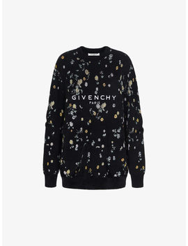 Pull Oversized Givenchy Paris à Motif Floral by Givenchy