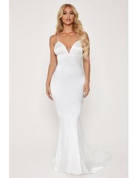 Shellin Low Back Wedding Dress   White by Meshki