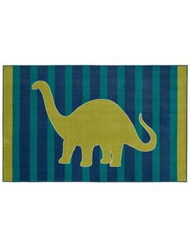Friendly Dinosaur Blue 5 Ft. X 8 Ft. Indoor Area Rug by Mohawk Home