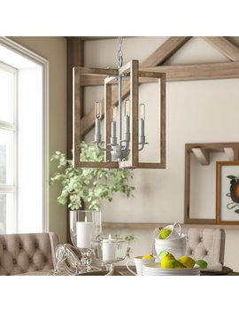Huxley 4 Light Square Pendant by Birch Lane