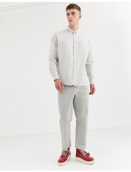 Серая оксфордская Oversize рубашка Asos Design by Asos Design