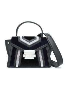 Color Block Velvet And Leather Shoulder Bag by Michael Michael Kors