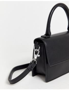 Monki Faux Leather Cross Body Bag In Black by Monki