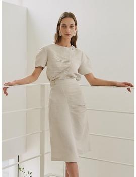 Tender Shirring Skirt Beige by Kollab