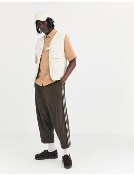 Светло коричневая поплиновая Oversize рубашка Asos Design by Asos Design