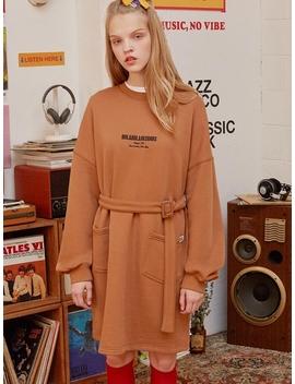 (Op 19517) Belt Sweatshirt Dress Camel by Rolarola
