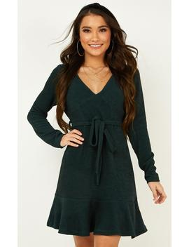 Tomorrows Day Knit Dress In Emerald by Showpo Fashion