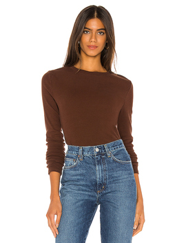 Long Sleeve Rib Tee In Syrup by Agolde