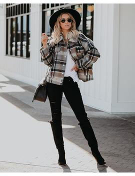 Noho Pocketed Plaid Coat by Vici
