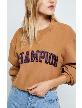 Champion Reverse Weave Vintage Cropped Sweatshirt by Pacsun