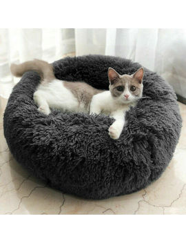 Comfy Calming Dog/Cat Bed Round Super Soft Plush Pet Bed Marshmallow Cat Bed Uk by Ebay Seller