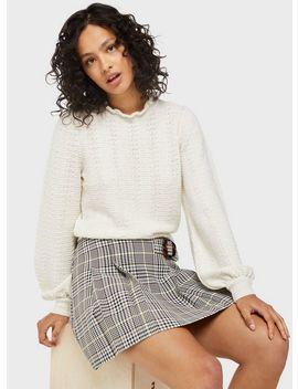 Ivory Prairie Lightweight Pretty Knitted Jumper by Miss Selfridge