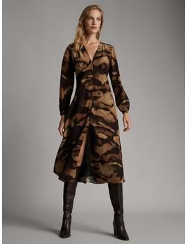 Sukienka Z RÓŻnorodnym Nadrukiem by Massimo Dutti