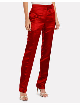 High Rise Satin Straight Leg Trousers High Rise Satin Straight Leg Trousers by Helmut Lang Helmut Lang