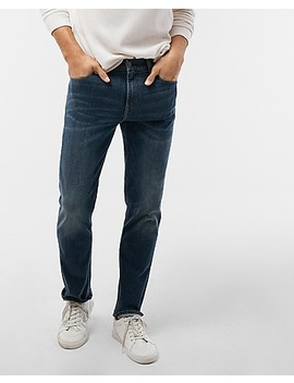 Classic Straight Medium Wash Tough Stretch+ Jeans by Express