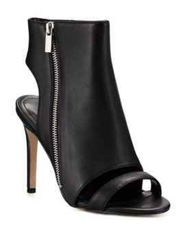 Charles David Crosser Leather Zip Stiletto Booties by Charles David