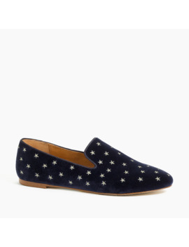 Velvet Embroidered Smoking Loafers by J.Crew
