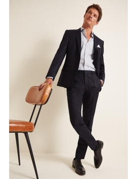 Hugo By Hugo Boss Ink Flannel Suit by Moss Bros