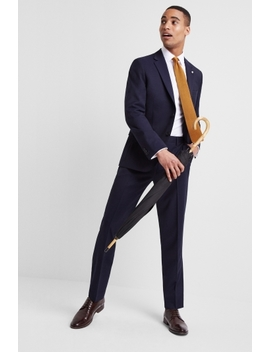 Ted Baker Slim Fit Navy Twill Suit by Moss Bros