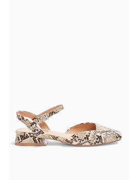 Alaska Snake Square Toe Shoes by Topshop