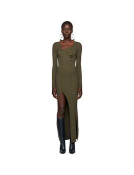 Khaki 'la Robe Maille Azur' Dress by Jacquemus