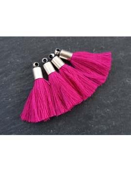 Mini Violet Pink Soft Thread Tassels Earring Bracelet Tassel Fringe Turkish Findings  Matte Silver Plated Cap   26mm   4pc   New Cap by Etsy